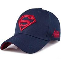 Wholesale superman sun cap resale online - Letter Superman Cap Casual Outdoor Baseball Caps For Men Hats Women Snapback Caps For Adult Sun Hat Gorras Casquette