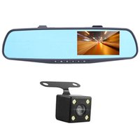 çizgi kameralar hd çift lens toptan satış-Araba Dvr Ayna Kamera 4.3