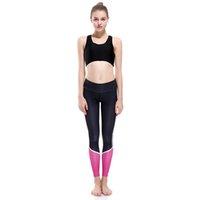 ingrosso pantaloni di yoga rosa di colore delle signore-Lady Yoga Leggings Rosa Grigio Nero Color Block 3D Digital Full Print Pantaloni Confortevoli Ragazza Casual Jeggings Donna Gym Pencil Fit (Yyoga0108)