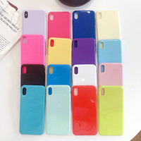 Wholesale cases for iphone 5c online – custom Candy Color Scratch Anti scratch Absorption Cell Phone Soft Case TPU Material For iPhone Xs Max Xr X Plus S C
