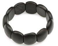 ingrosso giada ovale-Braccialetto ovale in giada con bracciale ovale in fila di meteorite naturale diretta a mano
