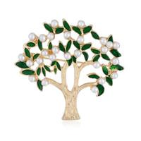 moda göğüs toptan satış-Yeni moda zirkon Broş kişilik büyük ağacı meme çiçek kadın 100 takım takım aksesuarları