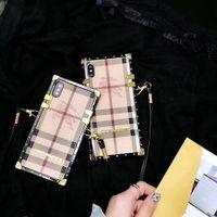 ingrosso auricolari personalizzati diy-Custodia per telefono di lusso con cordino per iPhone X / XS XR XSMAX 6 / 6S 6P / 6SP 7/8 7Plus / 8Plus Custodia cool con lettere di marca