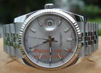 relogios venda por atacado-Mens de alta qualidade DATEJUST 116234 IMPRESSIONANTE PRATA VARA DIAL 36mm Ásia 2813 Automático Mens Watch Mens Sport relógios