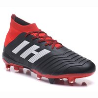 Wholesale soccer shoes red online - Top Predator Mens Soccer Shoes FG Football Boots New Predator Paul Pogba Cleats Slip On PureControl Purechaos Soccer Cleats