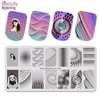 Wholesale xl image plates stamping nail art resale online - Beautybigbang Nail Art Stamping Plates Fantasy Dot Point Vortex Girl Image Stainless Steel Nails Stamping Template Mold XL