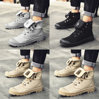 Wholesale tactical black combat boots for sale - Group buy Men high top Canvas shoes Military Tactical Boots Desert Combat Outdoor Army Travel Shoes Ankle Boots gray black boots