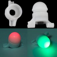 зажим для стержня оптовых-2 in 1 LED Night Fishing Rod Tip Clip on Fish Strike Bite Alert Alarm Light