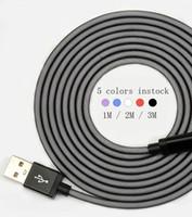metal balık filesi toptan satış-3 M / 2 M mikro 5pin kumaş balık net örgülü metal kafa samsung huawei akıllı telefon için mikro usb veri kablosu kablosu