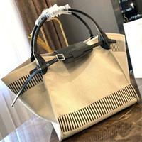 sacos de praia para mulheres venda por atacado-Big designer handbag 2019 novo designer de luxo saco de compras de lona de alta qualidade costura bolsa de praia das mulheres