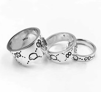 Wholesale sterling silver jewelry brands for sale - Group buy Have stamps with box fashion brand sterling silver skull designer rings bague anelli for mens and women Party luxury jewelry lovers gift