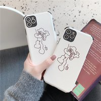 Wholesale dog cell phone cases for sale – best For Iphone Pro Phone Case Xs Max Xr Simple Line Dog X Plus Soft Silk Pattern Cell Phone Cases