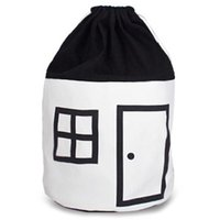 Wholesale travel house bags resale online - Cartoon Kids Toy Storage Bag Small House Pattern Cotton Drawstring Bag Travel Underwear Organizer Cosmetic Candy Pouch Bags