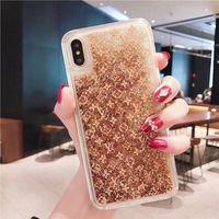vuelta rapida al por mayor-Estuche para teléfono móvil Quicksand Glitter Quick Brand de moda para iphone X XS XR Xs Max Sparkling Designer Funda trasera para iphone 7 7plus 8 8plus