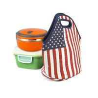 bolsas de nylon com zíper venda por atacado-Neoprene Portátil Isolamento Térmico Lunch Bag Carry Caso Tote Com Zíper Caixa Cooler Recipiente Sacos de Piquenique Bolsa de Viagem Ao Ar Livre Bolsa Novo A4902