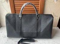 equipaje s al por mayor-Nueva de la bolsa de lona bolsa de viaje de las mujeres los hombres de moda y, marca de diseñador de bolsa de equipaje de gran capacidad de la bolsa de deportes 55CM
