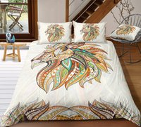 Wholesale hot 3d bedding set for sale - Group buy Lion Print Bedding Set Hot Sale Tribal Style D Duvet Cover King Queen Fashion Twin Full Single Double Bed Cover with Pillowcase