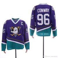 jersey de anaheim poderosos patos al por mayor-96 Charlie Conway Men Anaheim Ducks 8 Selanne 9 Paul Kariya Mighty Ducks de Anaheim