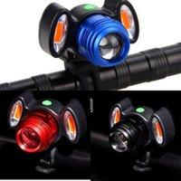 фара головного света 19 оптовых-USB зарядка горный велосипед огни многофункциональный практический 10 Вт головной свет черный красный синий предупреждающая лампа портативный высокое качество 19 8zq D1