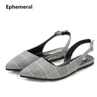 Wholesale wide size shoes for women resale online - Woman Back strap sandals flats Pointy Patch Colors summer dress shoes Pink black Extreme plus size Footwear for Wide Foot Y200405