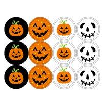 ingrosso adesivo rotondo di tenuta del regalo-Rotonda fantasma Pumpkin Head regalo Lable Seal Sticker regalo della caramella del sacchetto di tenuta Adesivo per feste decorazione di Halloween JK1909