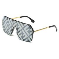piezas del marco al por mayor-Hot 2019 One Piece Diseñador de la marca con F Wrid gafas de sol cuadradas Mujeres de lujo de gran tamaño Big Frame Vintage gafas de sol hombres espejo # 1706