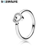 ingrosso cornici per anelli gioielli-DERMSPE gioielli in argento sterling 100% 196549CZ PUZZLE HEART FRAME ANELLO Original Women wedding Jewelry