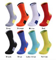 hoja de toalla al por mayor-Hombres Toalla Inferior Calcetines de entrenamiento de baloncesto Transpirable antideslizante Fútbol Montar Fitness rodilla-alto Hombre Calcetines deportivos