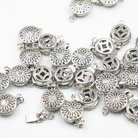 ingrosso macchina di fabbricazione della collana-Commercio all'ingrosso 15pcs ganci a scatto catenacci accessori per gioielli che fanno braccialetto collana fai da te lavorazione pezzi argento-colore A342