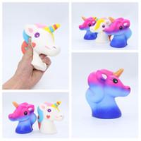 juguetes vuelan al por mayor-Hot Unicorn Squeeze Juguete Novedad Lindo PU Flying Horse Squishies Juguetes de descompresión Regalo de los niños Jumbo Squishy T2G5030