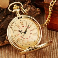 Wholesale son glasses for sale - Group buy Quartz Pocket Watch Vintage Gift From Parents To My Son quot I Love You quot Forever Necklace Chain Pendant Fob Clock Pendant Xmas Gold