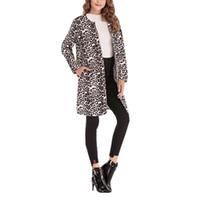 sexy trench long achat en gros de-Léopard Imprimer Sexy Trench-Coat Pour Femmes Mode Casual Long Manteau Coupe-Vent Top
