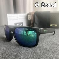 солнцезащитные очки синие зеркальные линзы без оправы оптовых-2019 HOLBROOK O Бренд TR90 Солнцезащитные очки Radar Pitch Бренд Дизайнерские солнцезащитные очки Модные солнцезащитные очки для мужчин Открытый очки с коробкой