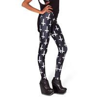 ingrosso gambali croce neri-Calda vita bassa in bianco e nero 2 colori ultra sexy seta del latte croce modello digitale pantaloni leggings jeans L1072