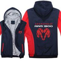 Big and tall sweatshirt for men Dog Ram decal hoodie bigmen clothing