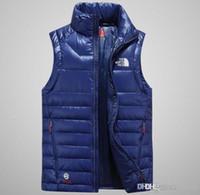 colete de alta qualidade para homens venda por atacado-2018 dupla face de alta qualidade dos homens para baixo colete jaqueta Outerwear casaco grosso inverno sportswear colete para homens