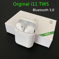 mini auricular para samsung s6 al por mayor-Nuevo i11 TWS Bluetooth 5.0 inalámbrico de auriculares Auriculares Mini auriculares con el Mic para el iPhone Samsung S6 S8 Xiaomi Huawei LG coche Auriculares