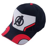 şapka karnavalı toptan satış-Avengers Cosplay Logo Şapka Boyutu Ayarlanabilir Kap Beyzbol Kapaklar Gri