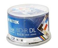 диск bd оптовых-10 шт 50 ГБ BD-R 2-8X скорость Ritek для печати Bluray DL двойной слой пустой DVD-диск