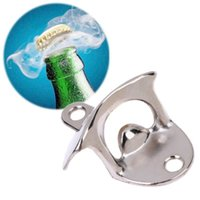Wholesale beer opener wall resale online - Fast Shipping Fashion Aluminium alloy Wall Mount Bar Beer Soda Glass Cap Bottle Opener Kitchen Tool LX8165