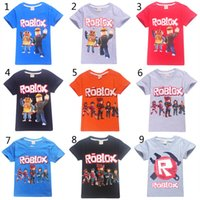Wholesale baby fashion games for sale - Group buy 15 Style Boys Girls Roblox Stardust Ethical T shirts New Children Cartoon Game cotton Short sleeve t shirt Baby kids clothing B1