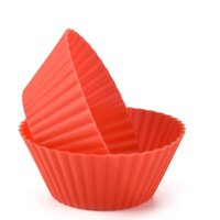 Wholesale cupcake shaped cake for sale - Group buy Round Shape Silicone Muffin Cupcake Baking Moulds Case Cupcake Maker Mold Tray Baking Cup Cake Mold Tools