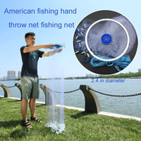 Wholesale fishing gill nets for sale - Group buy Fishing Gill Net Mesh Hole Net m Multifilament Gill Folding Fishnet Portable Fish Line White Practical