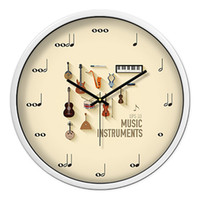 Wholesale musical decor for sale - Group buy Silent Musical Art Modern Wall Clock Creative Large Decorative Wall Clocks Home Decor Zegary Best Selling Products Watch