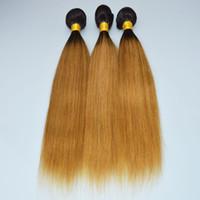 OC 905 Brazilian Human Virgin Hair Straight Gradient color 1b 27#brown POCHETTE FELICIE Wigs Long Hair Curtain Free Shipping