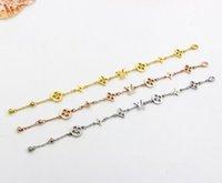 ingrosso oro bracciale regolabile-ZHF Braccialetto con ciondolo gioielli in oro rosa Per donne e uomini non tramonterà mai più 15 + 5 cm Bracciale a catena a dimensione regolabile