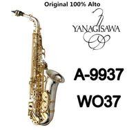 Brand NEW YANAGISAWA AWO37 Alto Saxophone Silver plating Gold Key Professional YANAGISAWA Super Play Sax Mouthpiece With Case