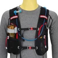 ingrosso zaino per l'esecuzione-5L Running Hydration Zaino Donna Uomo Jogging Sport Zaino da Trail Marathon Bag anche in bicicletta Senza sacca d'acqua