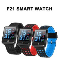 Wholesale home blood pressure monitor online - F21 Smart Watch inch Color Screen Sport Smart Bracelet Blood Pressure Heart Rate Monitor Fitness Tracker Bluetooth Bracelet Android