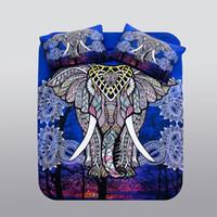 Wholesale elephant duvet cover set for sale - Group buy Bohemian Comforter Bedding Sets Duvet Cover Set Elephant National Style King Size Bedding Setbed set bed set